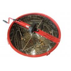 Медогонка 4-х рамочная поворотная.  Бак, кассеты, ротор Нержавеющая сталь. Кран алюм.
