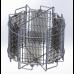 Медогонка Рута 6-ти рамочная Автоматическая. Нержавеющая сталь AISI 304, редуктор ременный