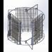 Медогонка 3-х рамочная поворотная, Бак Нержавеющая сталь, кассеты сварные порошковая покраска