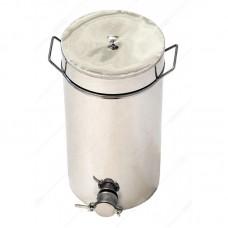 Бак - отстойник для меда 20л. с нержавеющей стали, кран Пластиковый