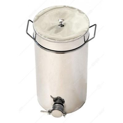 Бак - отстойник для меда 20л. с нержавеющей стали, кран алюминиевый