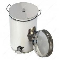 Бак - отстойник для меда 35л. с Фильтром с нержавеющей стали, кран — нержавеющий