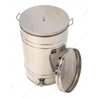 Бак - отстойник для меда 150л. с Фильтром с нержавеющей стали, кран — алюминиевый