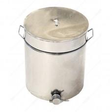 Бак - отстойник для меда 55л. с нержавеющей стали, кран алюминиевый