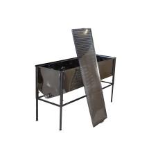 Воскотопка для парогенератора, с плоским корзиной FB и крышкой (Стол 1 м) (толщина 0,8 нержавеющая)